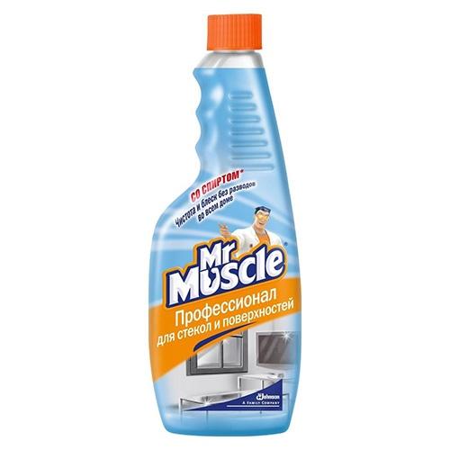 Моющее средство для стекол (сменный блок) Mr. Muscle Со спиртом