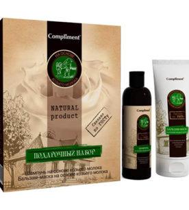 Подарочный набор Natural Product Шампунь «Козье молоко» 250 мл + Бальзам-маска «Козье молоко» 200 мл 1 шт оптом