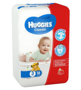 Подгузники Huggies Classic Small  Pack 4-9кг
