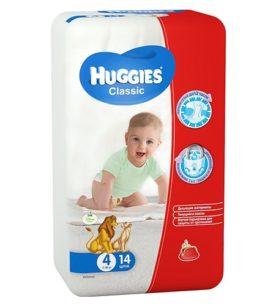 Подгузники Huggies Classic Small Pack 7-18 кг (4 размер) 14 шт оптом