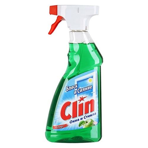 Средство для мытья окон Clin Яблоко+спирт 500 мл оптом