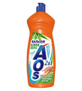 Средство для мытья посуды AOS Алоэ Вера