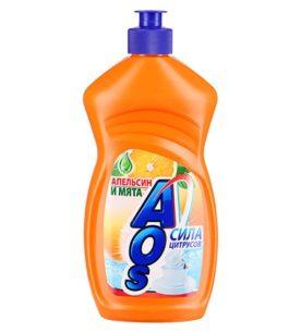 Средство для мытья посуды AOS Апельсин и мята