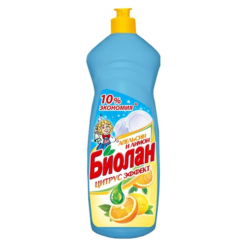 Средство для мытья посуды Биолан Апельсин и лимон  1 л оптом