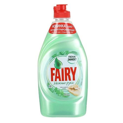 Средство для мытья посуды Fairy Нежные ручки, чайное дерево и мята, 450 мл