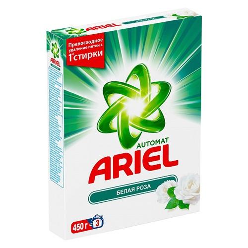Стиральный порошок Ariel Белая роза 450 г оптом