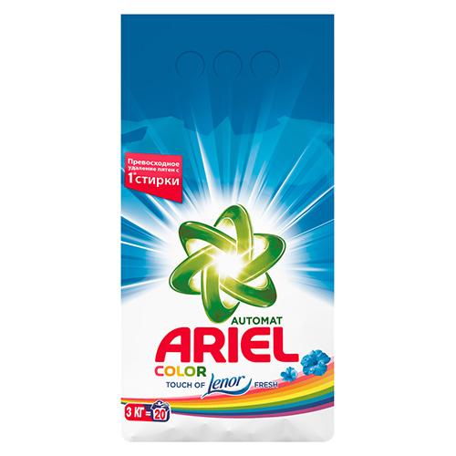 Стиральный порошок Ariel Color Lenor Fresh 3 кг оптом