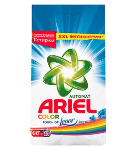 Стиральный порошок Ariel Color Touch of Lenor Fresh 6 кг оптом