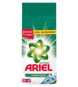 Стиральный порошок Ariel Горный родник 9 кг оптом