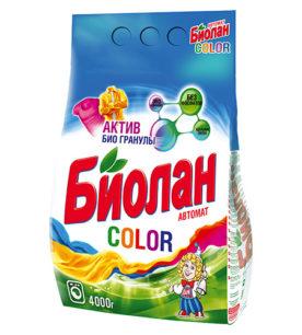 Стиральный порошок Биолан Color 4 кг оптом