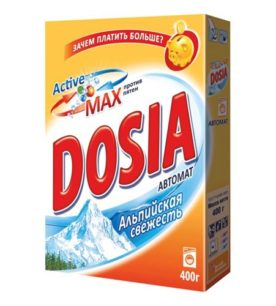 Стиральный порошок Dosia Альпийская свежесть 400 г оптом