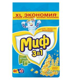 Стиральный порошок МИФ 3в1 Свежесть мимозы 4 кг оптом