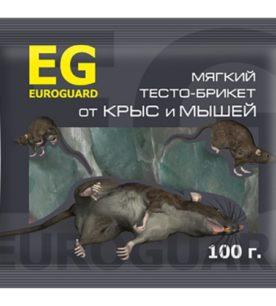 Тесто-брикеты EUROGARD От крыс и мышей 100 г оптом