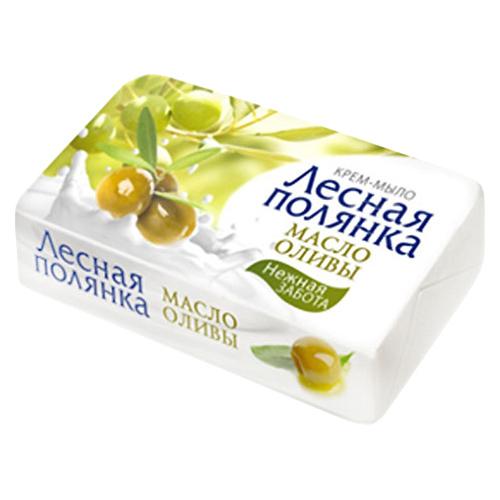 Туалетное мыло Лесная полянка Масло оливы 90 г оптом