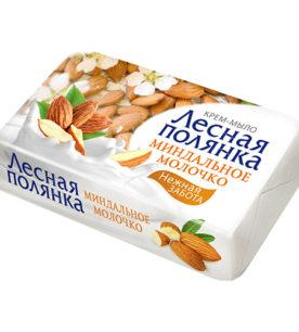 Туалетное мыло Лесная полянка Миндальное молочко 90 г оптом