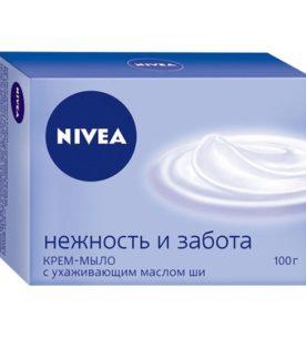 Туалетное мыло NIVEA Нежность и забота 100 г оптом