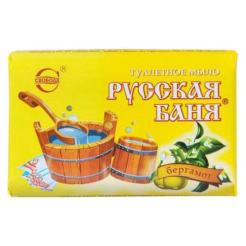 Туалетное мыло Русская баня Бергамот 100 г оптом