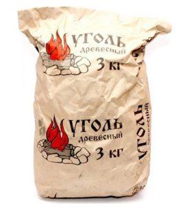 Уголь древесный ЭКО Березовый 3 кг оптом