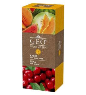 Женский подарочный набор GEO Гель для душа «Бодрящая свежесть» 335 мл + крем для рук и тела «Увлажнение и тонус» 200 мл 1 шт оптом