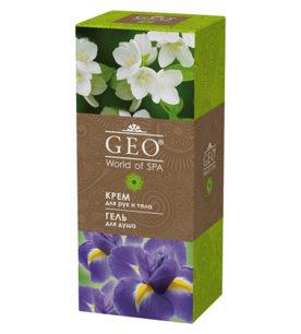 Женский подарочный набор GEO Гель для душа «Глубокое увлажнение» 335 мл + крем для рук и тела «Питание и упругость» 200 мл 1 шт оптом