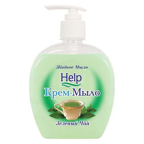 Жидкое мыло Help Зеленый чай 300 мл оптом