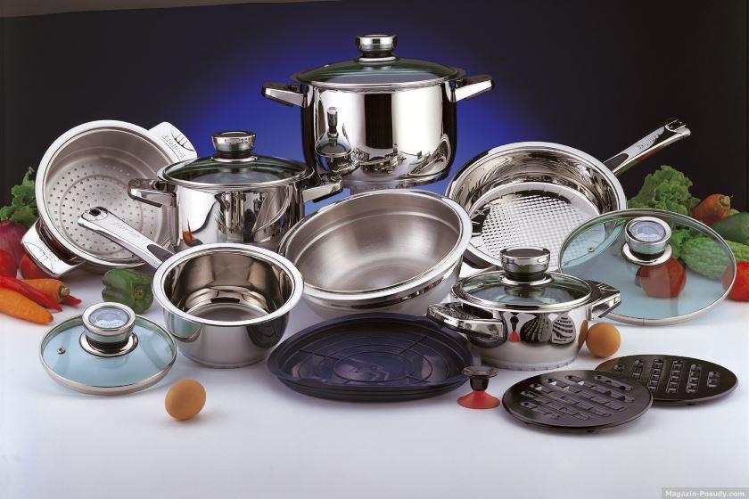 кастрюли посуда хозтовары