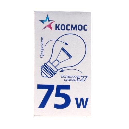 Лампа накаливания КОСМОС 75Вт
