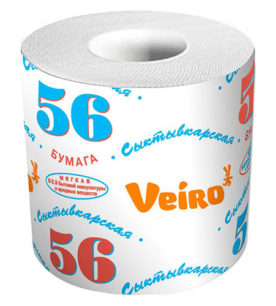 Туалетная бумага Veiro Однослойная