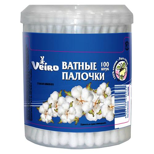 Ватные палочки Veiro В банке 100 шт оптом