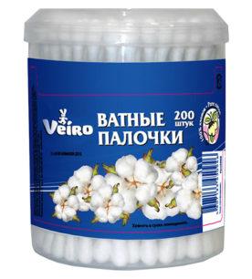 Ватные палочки Veiro В банке 200 шт оптом