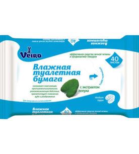 Влажная туалетная бумага Veiro С экстрактом Лопуха