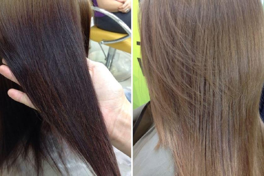 как смыть краску с волос до натурального