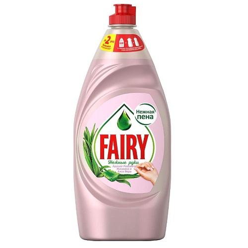 Средство для мытья посуды Fairy Нежные руки, розовый жасмин и Алоэ Вера, 900 мл