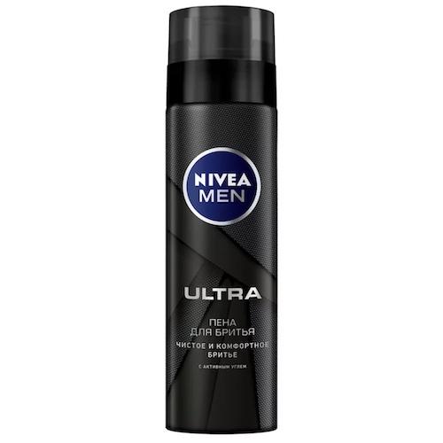 """Гель для бритья Nivea """"ULTRA, с активным углём"""", 200 мл"""