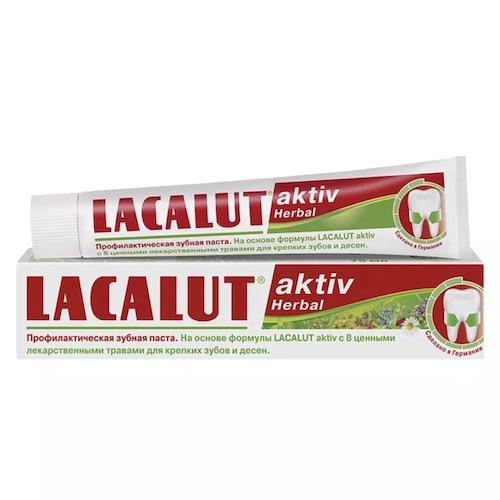 """Зубная паста Lacalut """"Aktiv Herbal"""", 75 мл"""