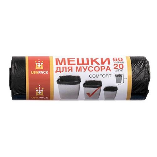 Мешки для мусора Комфорт UFAPACK 60 л, 20 шт