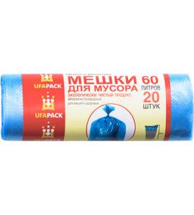 Пакеты для мусора Эконом 60л20шт синие ( ПМ-60-20)