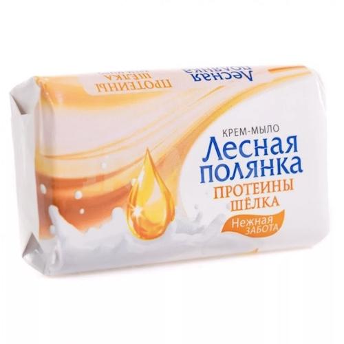 "Туалетное мыло Лесная полянка ""Протеины шёлка"", 90 г"