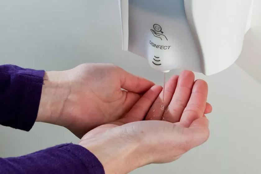 Мобильная стойка для дезинфекции рук