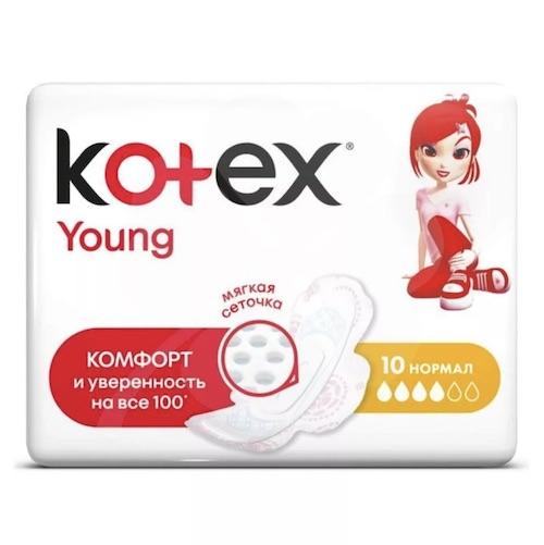 "Прокладки Kotex ""Young Normal"", 10 шт"
