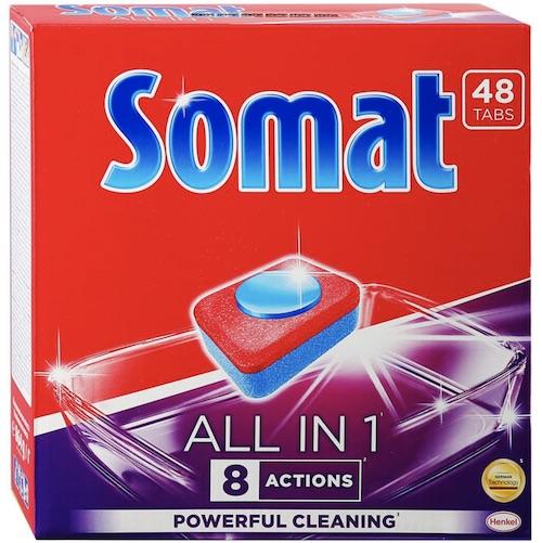 "Таблетки для посудомоечных машин Somat ""All in 1"", 48 шт"